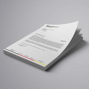 Briefbogen mit Logo